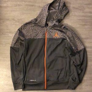Kids Jordan zip up hoodie size large